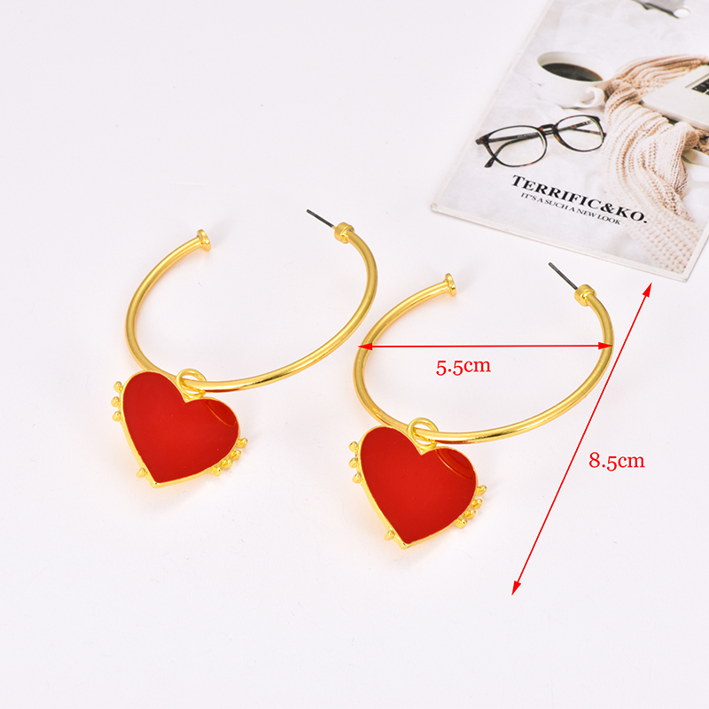 personality-Heart-shaped Earrings-Restoring ancient ways