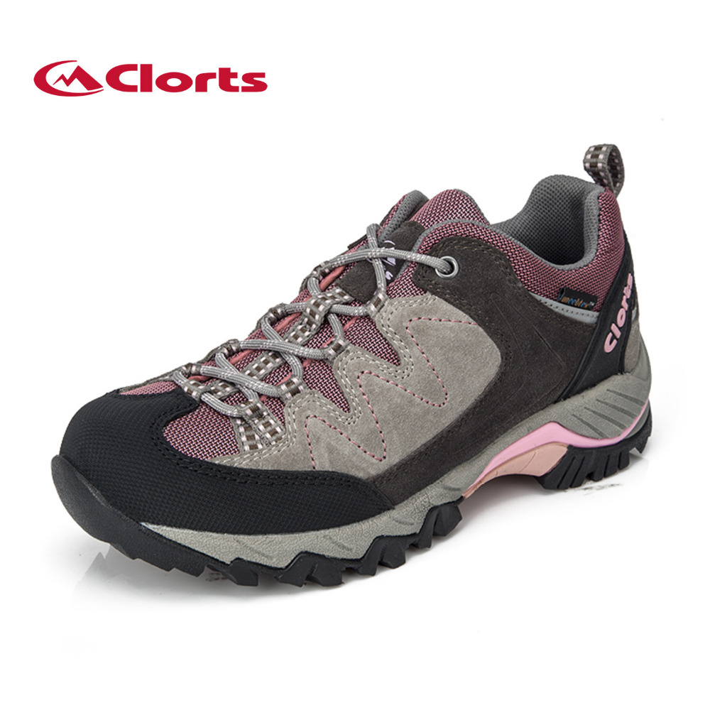Clorts Women Hiking Shoes Suede Outdoor Hiking Boots for Women  Waterproof Sports Sneakers Women Shoes Hiking Shoes yin qi shi man winter outdoor shoes hiking camping trip high top hiking boots cow leather durable female plush warm outdoor boot