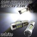 2 pcs 15SMD 5730 led 1156 BA15S P21W Car Cauda Lâmpada 900LM Luzes de freio auto Reverso Da Lâmpada de Circulação Diurna Luz branco vermelho amarelo