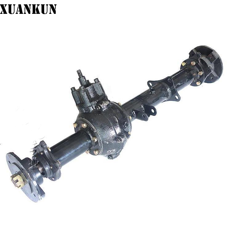 XUANKUN Quadruple Motorcycle Modified Rear Axle Suspension Differential Shaft Drive Modified Axle Rear Axle jd 90 rear middle metal axle with differential lock