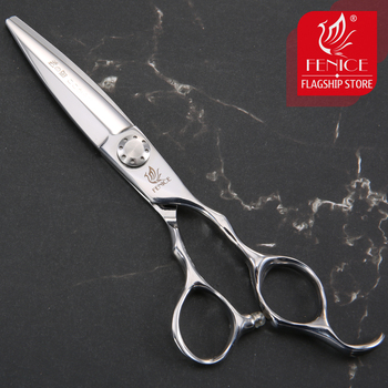 Fenice 6.0 inch Hairdresser's Scissors Professional Japanese VG10 Stainless Steel Wide Blade Hot Barber Scissors for Barbershop