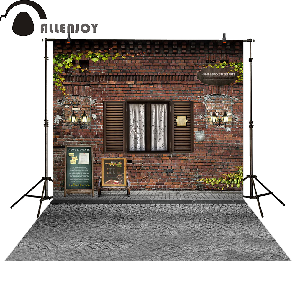 Allenjoy photography backdrop vintage brick wall window street newborn photo studio photocall background original design 3x5ft crack gray wall brick wall photography backdrop background photo studio