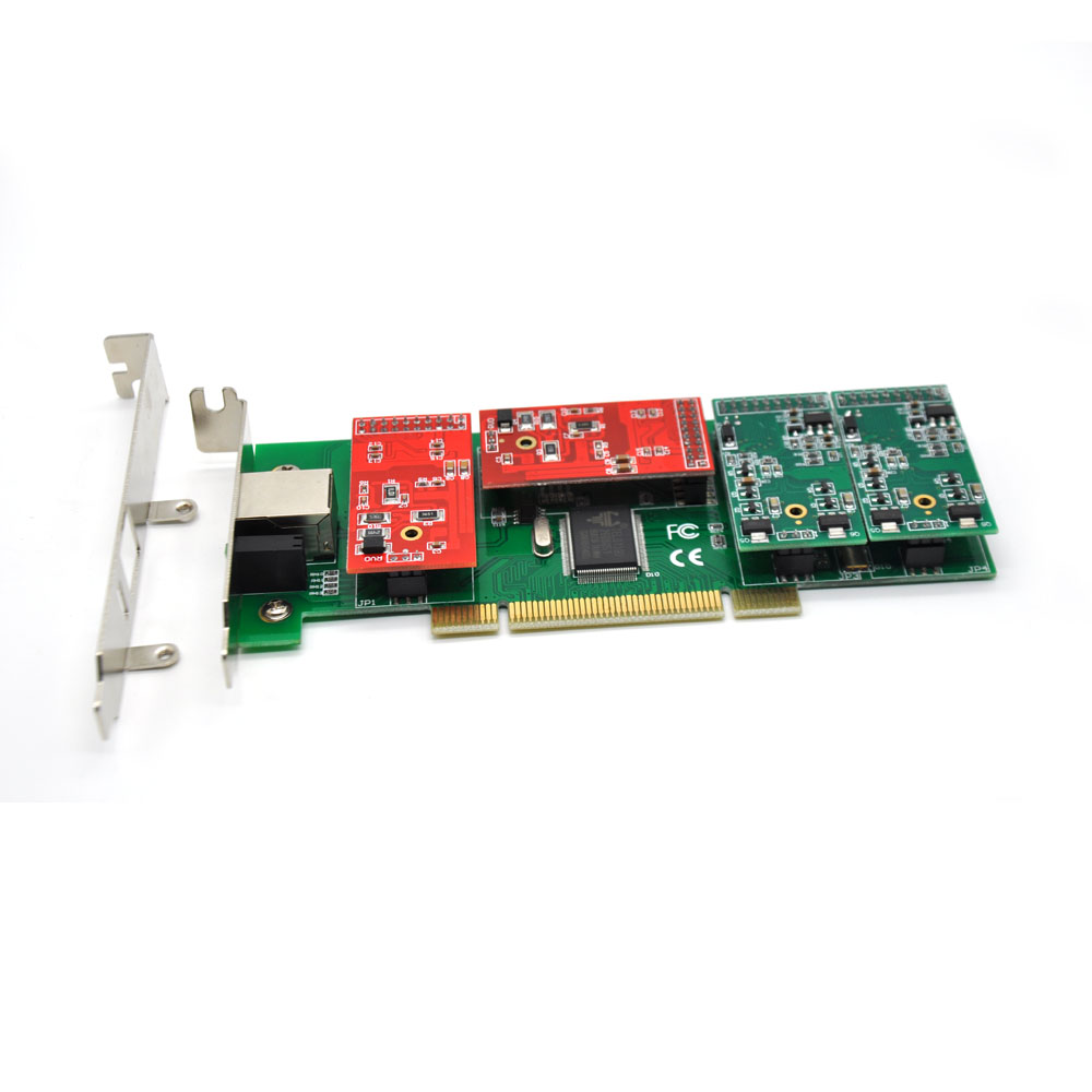 SinoV-TDM410PL 4FXS/FXO PCI Analog Asterisk Card 2U Class