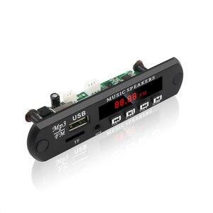 Image 2 - Kebidu לא Bluetooth MP3 WMA WAV מפענח לוח MP3 נגן רכב אודיו USB TF רדיו FM מודול 5V 12V עם שלט רחוק לרכב