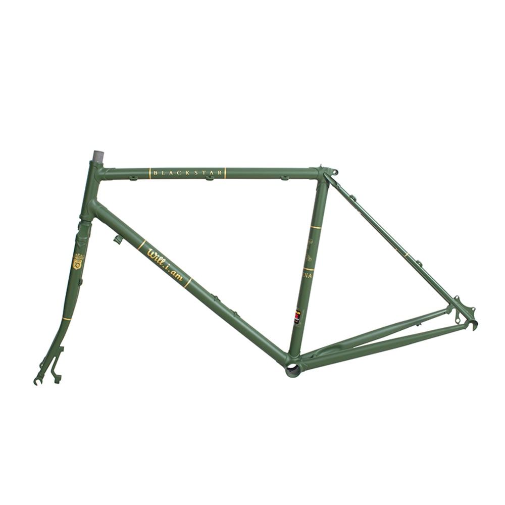Touring Bicycle Frame  Reynolds 525 Steel Road Bike Frame Copper Plated Frame DIY Chrome Molybdenum Steel  Bike Frame
