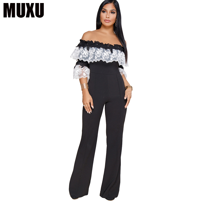 MUXU sexy women elegant backless europe and the united states jumpsuits rompers ladies jumpsuits tutine donna backless bodysuit
