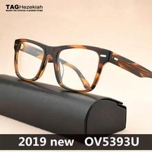 Брендовые ретро оптические очки, оправа для мужчин и женщин, близорукость, компьютерные очки для чтения, оптические очки по рецепту, Брендовые очки OV5393U