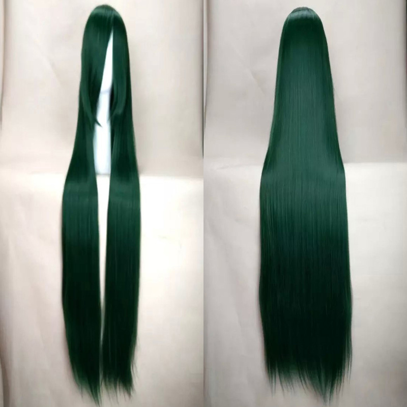 HAIRJOY 120cm Green Cosplay Wig Woman Wigs Good Quality Cheap Soft Long Straight Synthetic Hair Party Costume