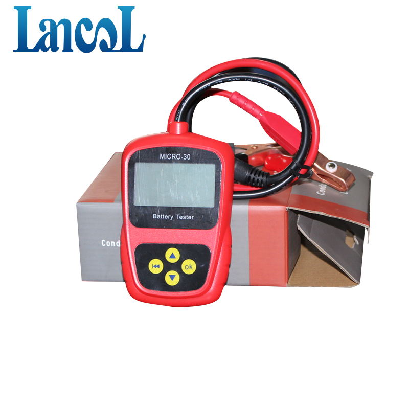 LANCOL Original MICRO-30 Motorcycle Battery Tester Autobike Battery Analyzer 12v Diagnostic Tool LCD Display Bad Cell Analyzer