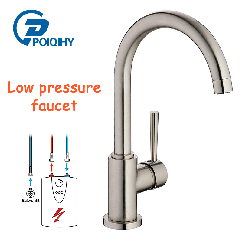 POIQIHY Low Pressure faucet Brushed Nickel kitchen tap free rotatable kitchen sink mixer faucet цена 2017