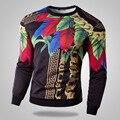 Новое Прибытие Моды для Мужчин Пуловеры Человек Толстовки Высокое Качество Цветок Clothing мужчина С Длинным Рукавом Человек Печатных
