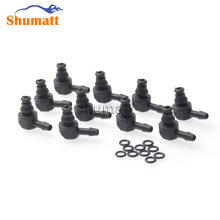 Diesel Common Rail Parts Fuel Injector Assy Return Oil Backflow Plastic Two-way Joint Pipe Fitting for 0445 110 Series(China)