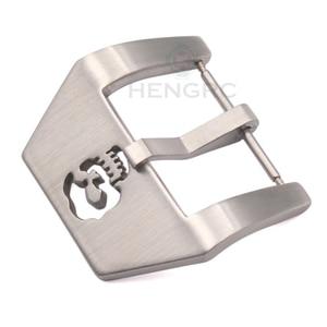 Пряжка для часов с черепом 20 мм 22 мм 24 мм 26 мм Серебристые Ремешки для наручных часов из нержавеющей стали застежка металлические аксессуары для часов для PANERAI