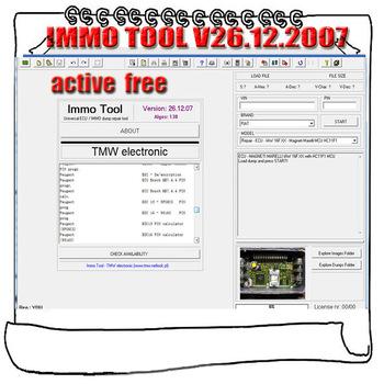 Oprogramowanie do naprawy narzędzi ECU Immo oprogramowanie immobilizera V26 12 2007 + odblokowany Keygen tanie i dobre opinie alansh none IMMO TOOL windows xp 7 8 10 free active