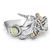 Women's Unicorn Ring with Crystals