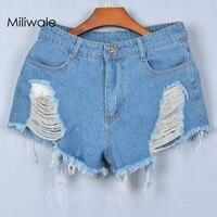 Nieuwe mode lente zomer stijl vintage verschansten denim vrouwen gewassen korte lady leuke denim katoen blauw korte jeans J1903