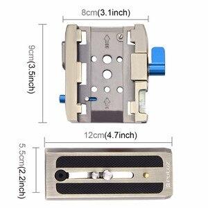 Image 3 - PULUZ Quick Release Clamp Adapter + Quick Release Plaat voor DSLR SLR Camera