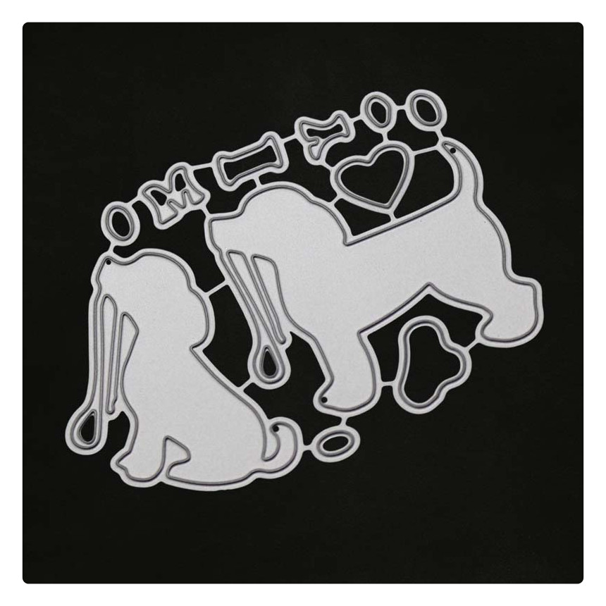 YINISE Metal Cutting Dies For Scrapbooking Stencils Dogs Bone SCRAPBOOK DIY Album Cards Decoration Embossing Craft Cut Die Cuts in Cutting Dies from Home Garden