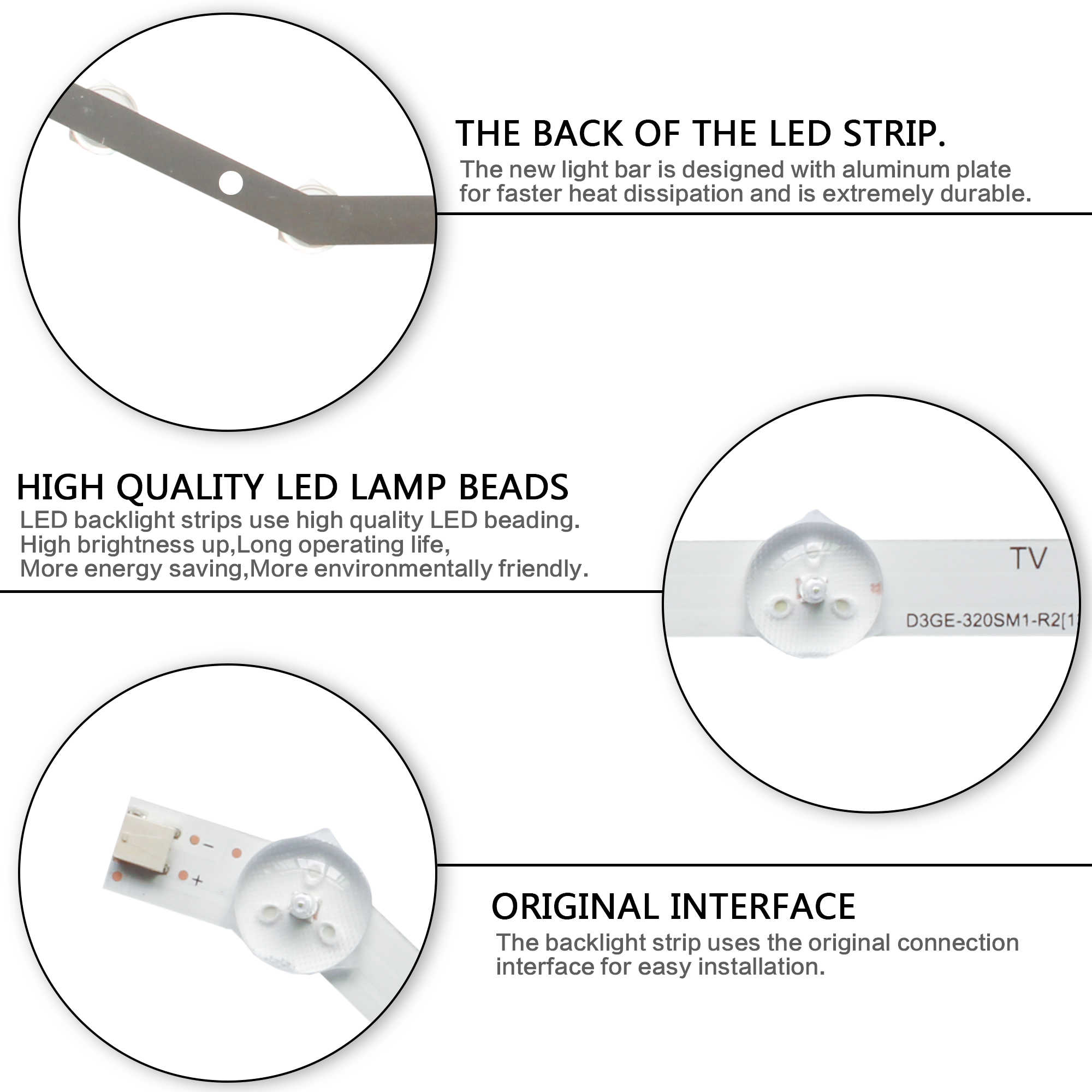 "Led Backlight Strip 12 Leds Voor Samsung 32 ""Tv D3GE-320SM1-R2 CY-DF320BGLV1H BN96-28763A LM41-00001R 2013VS32 BN96-35204A"