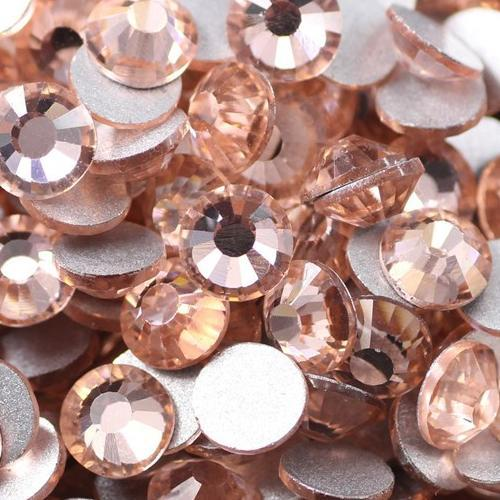 Free Shipping Nail Art Rhinestone Lt.peach Color SS20(4.8-5.0mm) 1440pcs/pack Non Hotfix Flatback Crystal Stones