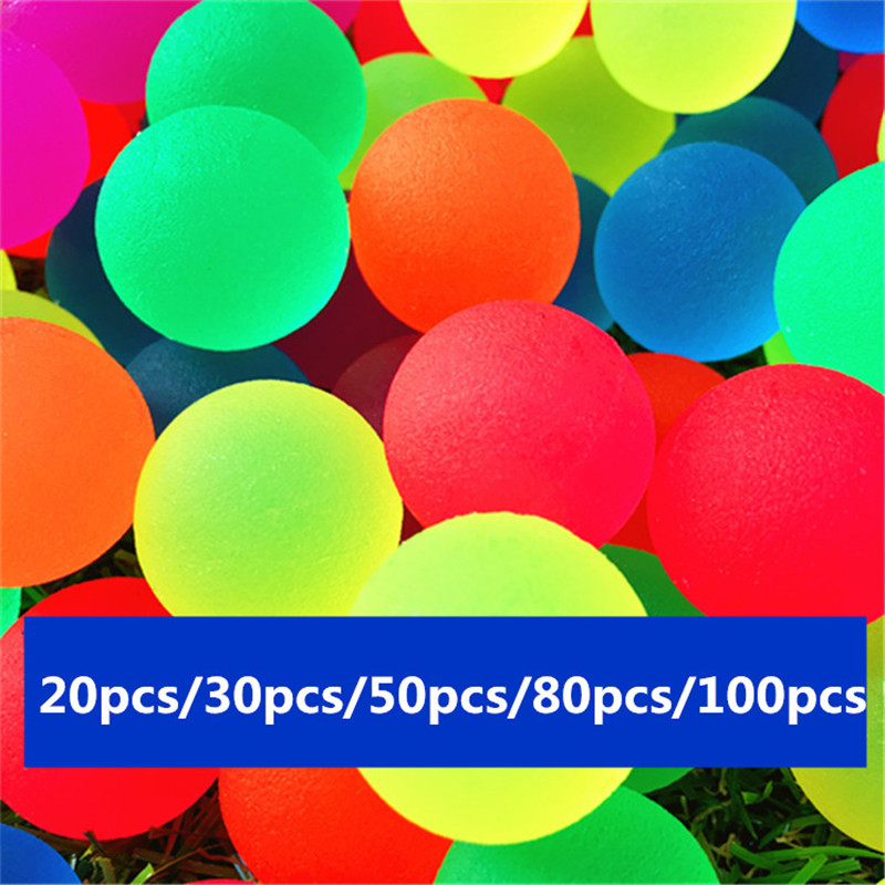 25MM Frosted Color Bouncing Ball Bouncy Ball Child Rubber Ball Of Bouncy Toy 20pcs/30pcs/50pcs/80pcs/100pcs