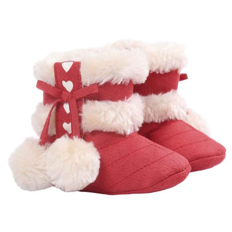 Toddler Boots Crib-Shoes Baby Anti-Slip Soft-Sole Girl Cotton Warm Cute for Cloth