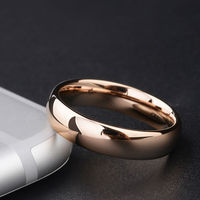 New Fashion Jewelry Rose Gold Plated Tungsten Steel Lovers Rings His Hers Classic Ring With Free