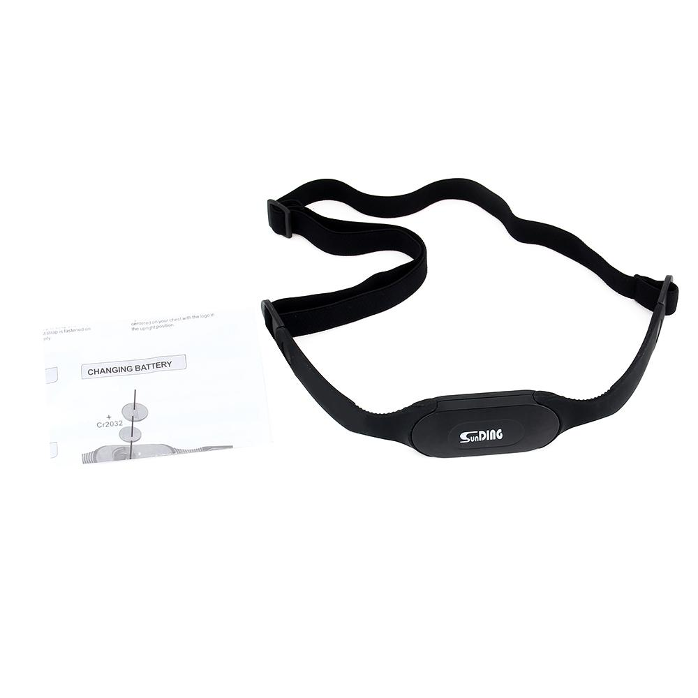 SUNDING Bluetooth 4.0 Wireless Heart Rate Monitor Chest Strap Elastic Smart Band