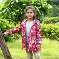 baby girl coats and jackets 2017 baby girl clothes hooded floral printed kids jackets hooded thicken warm windpoof kids trench