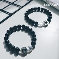 MUCY Has The Original Design Natural Rainbow Obsidian Crystal Bracelet Lovers