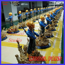 FÃS MODELO futuro instock MRC 40 cm Dragon Ball Z super saiyan troncos GK resina estátua conter led light toy figura para Coleção(China)