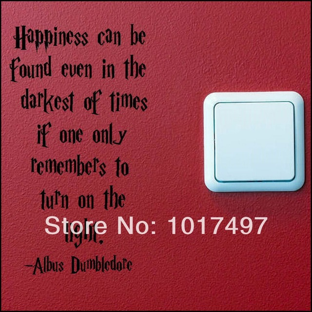 2pcs Funny SWITCH wall decal stickers , HARRY POTTER QUOTE TURN LIGHT SWITCH ON WALL ART STICKER DECAL,free shipping b3000