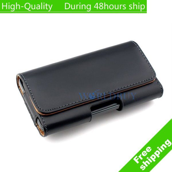 High Quality Belt Clip Holster Pouch Leather Case Cover For Iphone 5 5G 5S SE
