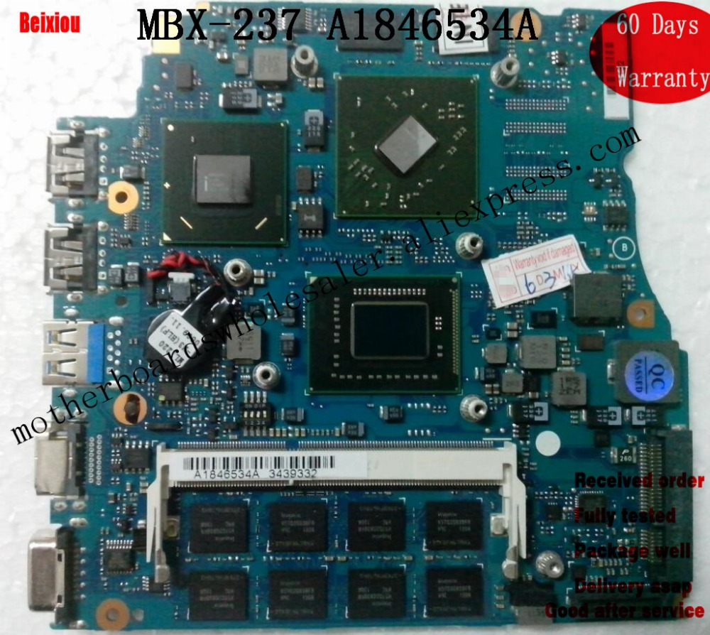 "Mainboard For Sony 13"" VPCSB Series With I5 mbx-237 Laptop Motherboard A1846534A Test"