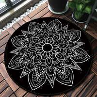 Style National rond Mandala tapis tapis décor de chambre aire de jeu tapis chevet paillasson sol chaise tapis grand tapis salon