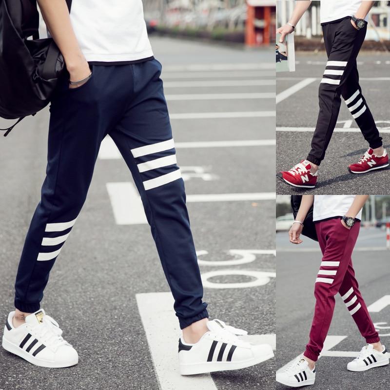 T-Bird New Fashion 2017 Joggers Men Brand White Stripes Sweatpants Male Compression Pant ...