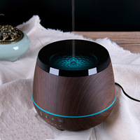 Bluetooth Speaker Aromatherapy Essential Oil Diffuser Ultrasonic Cool Mist Humidifier With Music Player 4 Colors LED