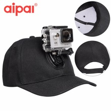 Camera Accessories Adjustable Black Canvas Sun Hat Cap Mount For Gopro Hero 4 3 SJCAM Xiaomi Yi Aipal Action Sport Camera
