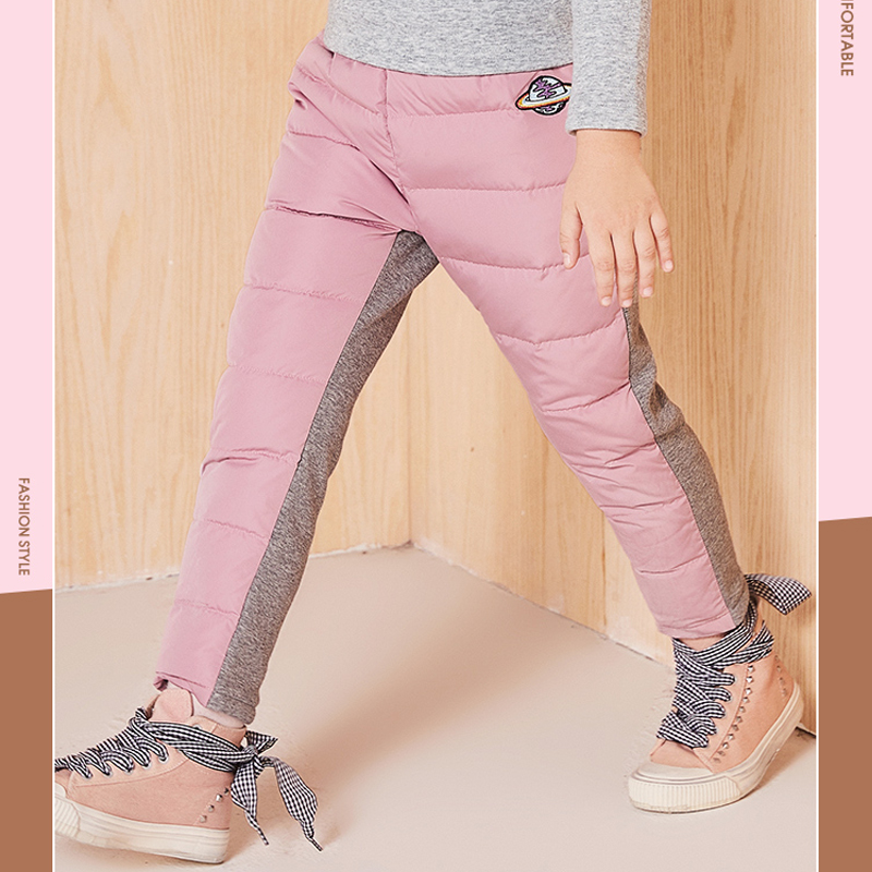 Girls Pants For Boys Down Children Pants Winter Clothes Kids Girl Clothing Boys Trousers 2021 New Casual Children Clothing 1