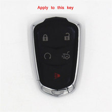 car accessories araba aksesuar key cover for Cadillac CTS SRX SLS Smart Remote Key Case Fob Cover Car-styling 5 button styling