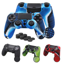 สำหรับ Sony PlayStation Dualshock 4 PS4 DS4 Pro Slim Controller & Stick Grip 4 สี Anti - slip ซิลิโคนผิวกรณี(China)