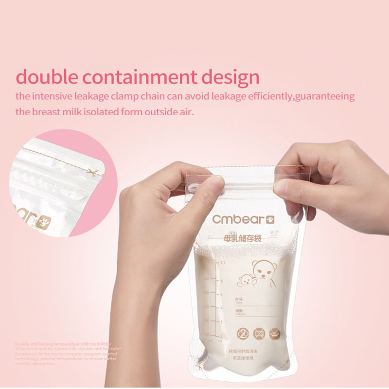 30Pcs Breast Milk Preservation Bag Baby Breast Milk Storage Bag BPA-Free 220ML Large Capacity AN88