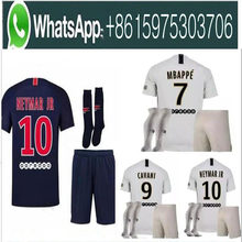 8ce9b9f0f 18 19 MBAPPE PSG soccer jersey uniform set 2018 2019 Paris CAVANI saint  germain DANI ALVES Maillot De Foot away white Football S