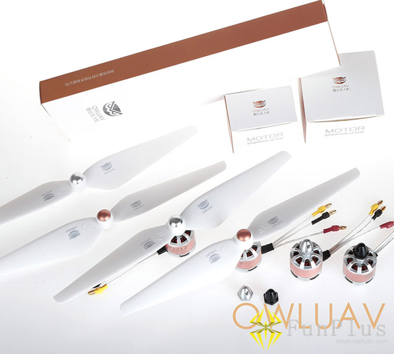 OWLUAV P2212 910KV Brushless Motor 9545 CW CCW 9.5 Inch Self-locking Propellers Combo for RC Quadcopter FPV Drone Multicopter original emax rs1104 5250kv brushless motor t2345 tri blades propellers cw ccw props for 130 rc brushless racer drone q20400