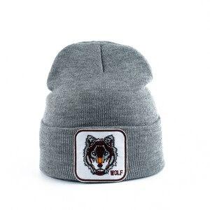 Image 5 - Neue Wolf Tier Beanie Männer Warme Gestrickte Winter Hüte Für Frauen Gorra Hip hop Skullies Motorhaube Unisex Kappe Dropshipping
