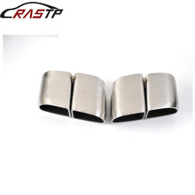 цена RASTP-Car Exhaust Tips End Muffler For Porsche 14 Panamera Color Polish Black RS-CR8097