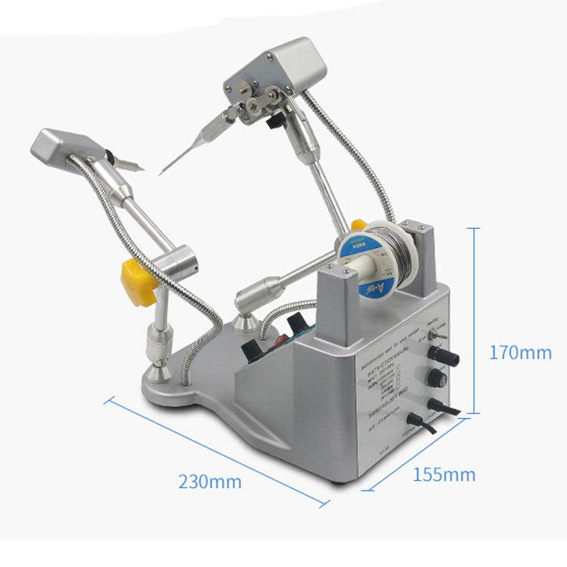 Tools : Automatic Tin Spot Welder Pedal Tin Soldering Machine Tin Soldering Robot High Precision Digital Iron Soldering Gun HS376D