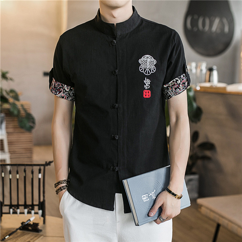 2019 summer traditional chinese clothing for men kung fu clothes cheongsam shanghai tang suit kungfu store men's vintage man 3