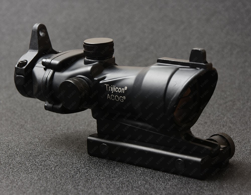 Tactical Trijicon Acog Style 4x32 Rifle Scope With 20mm Picatinny Rail Mount Front Rear Sights Hunting Shooting M2833