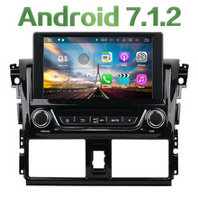 "8"" Android 7.1 Quad Core 2GB RAM 4G SWC Wifi Multimedia Car DVD Player Stereo Radio GPS Navi Screen for Toyota Yaris 2014 2015"